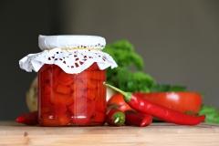 Marineeritud tšilli ja paprika